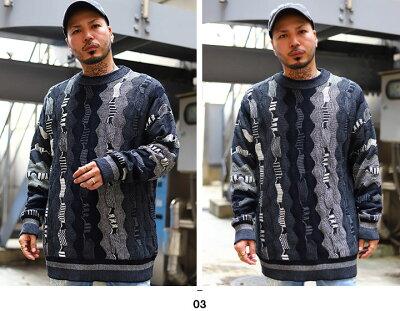 REASON(リーズン)のニット(セーター)モデル着用画像