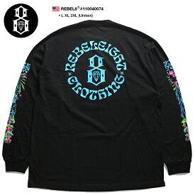 レベルエイト REBEL8 ロンT ロングスリーブTシャツ 長袖 メンズ 黒 L XL 2L LL 2XL 3L XXL 大きいサイズ b系 ヒップホップ ストリート系 ファッション ブランド 服 かっこいい おしゃれ 袖プリント ロゴ 魔法使い キノコ グラフィティー ビッグシルエット アメカジ 110040074