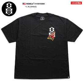 レベルエイト REBEL8 Tシャツ 半袖 メンズ レディース 黒 L XL 2L LL 大きいサイズ b系 ヒップホップ ストリート系 ファッション ブランド かっこいい おしゃれ エイトロゴ スカル ブラックパンサー シンプル ゆったりサイズ ビッグシルエット オーバーサイズ 10010368