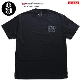 レベルエイト REBEL8 Tシャツ 半袖 メンズ レディース 黒 L XL 2L LL 2XL 3L XXL 大きいサイズ b系 ヒップホップ ストリート系 ファッション ブランド かっこいい おしゃれ サーフボード カリフォルニア イーグル シンプル ゆったりサイズ ビッグシルエット 110010372
