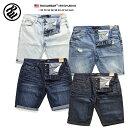 b系 ヒップホップ ストリート系 ファッション メンズ レディース ショーツ 【R1501J001S】 ロカウェア ROCAWEAR ヒゲ ジーンズ ショー…