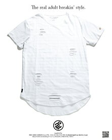 b系 ヒップホップ ストリート系 ファッション 服 メンズ レディース Tシャツ 【R1701T502】 ロカウェア ROCAWEAR 切り込み ダメージ加工 ボーダー レイヤード ロング丈 L XL 2L LL 2XL 3L XXL 3XL 4L XXXL 大きいサイズ 正規品