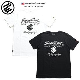 ロカウェア ROCAWEAR Tシャツ 半袖 メンズ レディース 白 黒 M L XL 2L LL 2XL 3L XXL 3XL 4L XXXL 大きいサイズ b系 ヒップホップ ストリート系 ファッション ブランド 服 かっこいい おしゃれ ワッペン 刺繍 ラッパー Jay-Z アメカジ ダンス Bボーイ ギフト RWTS001