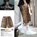 【送料無料】 ロカウェア ROCAWEAR ハーフパンツ 【RW181K45】 かっこいい メンズ ショーツ ヒョウ柄 レオパード柄 イージー ジャージ …