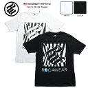 【送料無料】 ロカウェア ROCAWEAR Tシャツ 半袖 【RW181T27】 かっこいい チェッカーフラッグ柄 ロゴ 黒白 ラッパー Jay-Z ジェイジー…