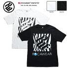ロカウェア ROCAWEAR Tシャツ 半袖 【RW181T27】 かっこいい チェッカーフラッグ柄 ロゴ 黒…