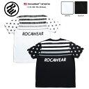【送料無料】ロカウェア ROCAWEAR Tシャツ 半袖 【RW182T04】 かっこいい ブルックリン BROOKLYN 総柄 グラデーション 星条旗 黒白 ラ…