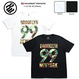 ロカウェア ROCAWEAR Tシャツ 半袖 【RW182T02】 かっこいい 名曲 99 PROBLEMS ブルックリン 総柄 オレンジ迷彩柄 黒白 ラッパー Jay-Z ジェイジー L XL 2L LL 2XL 3L XXL 3XL 4L XXXL b系 ヒップホップ ストリート系 服 メンズ 大きいサイズ ギフト
