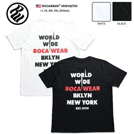 ロカウェア ROCAWEAR Tシャツ 半袖 【RW182T03】 かっこいい バンドT バンT ツアーロゴ ワールドワイド 刺繍 黒白 ラッパー Jay-Z ジェイジー L XL 2L LL 2XL 3L XXL 3XL 4L XXXL b系 ヒップホップ ストリート系 服 メンズ 大きいサイズ ギフト