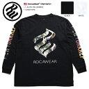 【送料無料】 ロカウェア ROCAWEAR ロンT 【RW183T01】 メンズ Tシャツ 長袖 かっこいい おしゃれ 袖プリント ナンバー 名曲 99 PROBLE…
