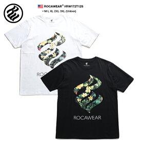 ロカウェア ROCAWEAR Tシャツ 半袖 メンズ レディース 白 黒 M L XL 2L LL 2XL 3L XXL 3XL 4L XXXL 大きいサイズ b系 ヒップホップ ストリート系 ファッション ブランド 服 かっこいい おしゃれ ボタニカル柄 アロハ柄 ハイビスカス 星 スター ブルックリン RW172T12S