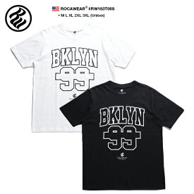 ロカウェア ROCAWEAR Tシャツ 半袖 メンズ レディース 白 黒 M L XL 2L LL 2XL 3L XXL 3XL 4L XXXL 大きいサイズ b系 ヒップホップ ストリート系 ファッション ブランド 服 かっこいい おしゃれ マルチロゴ ナンバー 99 星 モノトーン ブルックリン RW183T08S