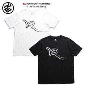 ロカウェア ROCAWEAR Tシャツ 半袖 メンズ レディース 白 黒 M L XL 2L LL 2XL 3L XXL 3XL 4L XXXL 大きいサイズ b系 ヒップホップ ストリート系 ファッション ブランド 服 かっこいい おしゃれ 定番ロゴ かすれプリント シンプル モノトーン ビッグシルエット RW173T12S