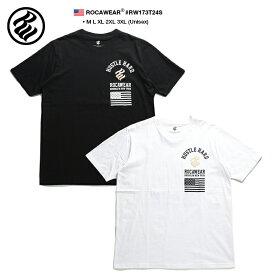 ロカウェア ROCAWEAR Tシャツ 半袖 メンズ レディース 黒 白 M L XL 2L LL 2XL 3L XXL 3XL 4L XXXL 大きいサイズ b系 ヒップホップ ストリート系 ファッション ブランド 服 かっこいい おしゃれ 星条旗 アーチロゴ マルチロゴ ベージュ モノトーン ブルックリン RW173T24S
