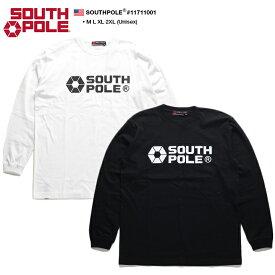 サウスポール SOUTH POLE ロンT ロングスリーブTシャツ 長袖 メンズ 白 黒 M L XL 2L LL 2XL 3L XXL 大きいサイズ b系 ヒップホップ ストリート系 ファッション ブランド 服 かっこいい おしゃれ 定番ロゴ プリント シンプル ワンポイント ビッグシルエット 11711001
