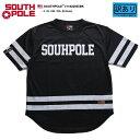 サウスポール SOUTH POLE フットボールシャツ ホッケーシャツ ゲームシャツ 半袖 メンズ 黒 L XL 2L LL 2XL 3L XXL 3XL 4L...
