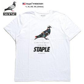 ステイプル STAPLE Tシャツ 半袖 メンズ 白 L XL 2L LL 2XL 3L XXL 3XL 4L XXXL 大きいサイズ b系 ヒップホップ ストリート系 ファッション ブランド 服 かっこいい おしゃれ ネイティブアメリカン イーグルフェザー 鳥の羽 カラフル 鳩 ビッグシルエット 1904C5401
