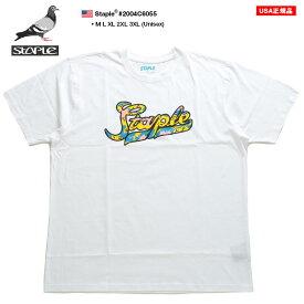 STAPLE Tシャツ 半袖 メンズ レディース 春夏用 白 M-3XL 大きいサイズ ビッグシルエット ステイプル かっこいい おしゃれ ロゴ 迷彩柄 アーミー アメカジ b系 ヒップホップ ストリート系 ファッション ハイ ブランド 服 2004C6055【セール】