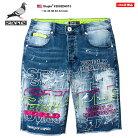 ステイプル STAPLE ハーフパンツ デニム ジーンズ ジーパン Gパン ショーツ 半ズボン メンズ…