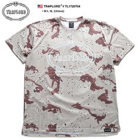 トラップロード TRAPLORD Tシャツ 半袖 メンズ レディース M L XL 2L LL 大きいサイズ b系 ヒップホップ ストリート系 ファッション ブランド 服 かっこいい おしゃれ 迷彩柄 総柄 ビッグシルエット エイサップ モブ エイサップファーグ Hip Hop ダンス TL1720704