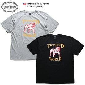 トラップロード TRAPLORD Tシャツ 半袖 メンズ レディース グレー 黒 M L XL 2L LL 2XL 3L XXL 大きいサイズ b系 ヒップホップ ストリート系 ファッション ブランド 服 かっこいい おしゃれ ブルドック 犬 ビッグシルエット エイサップ モブ エイサップファーグ TL1720700