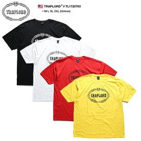 トラップロード TRAPLORD Tシャツ 半袖 メンズ レディース 黒 白 赤 黄色 M L XL 2L LL 2XL 3L XXL 大きいサイズ b系 ヒップホップ ストリート系 ファッション ブランド 服 かっこいい おしゃれ 定番 シンプル ワンポイント ビッグシルエット エイサップ モブ TL1720703