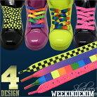 WEEKINDENIM【WD-FW-KH-015】【幅1cm】POP柄 シューレース 4色展開 お手持ちの靴の印象をガ…