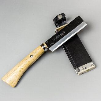 阶段三把开山刀 120 毫米最好火制作短柄小斧蓝色纸钢刃儿童孩子营具鞘