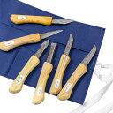 本格 細工用 小刀セット 6本組 木彫り道具 竹細工 切出 工作