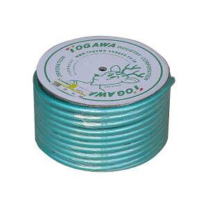 十川 日本製 耐圧・防藻 糸入り散水ホース 15mm×20mm 50M巻