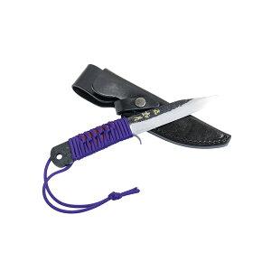 日本製 ナイフ 青紙鋼 如月120mm 本革ケース付 両刃剣鉈 楽ギフ_
