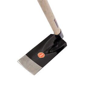 送料B 鍬 日本製 ハガネ 小型菜園鍬 1050mm椎柄付 (63度) 雄鹿 (くわ クワ 畑 農園 土農工具)
