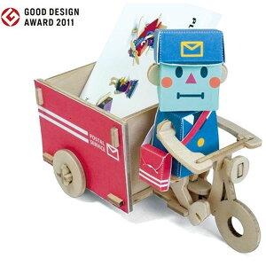 木と紙で作る名刺&カード入れ!PLAY-DECO(プレイデコ)POSTMAN & WAGON