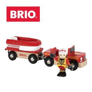 【ラッピング対応】海の火事を救出! BRIO(ブリオ)レスキューボート プレゼント 出産祝い おもちゃ レスキューボート 木のおもちゃ 船 消防