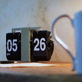 メカニカルなパタパタ時計!FLIP CLOCK(フリップクロック)LUFT(ルフト)【掛時計 置き時計 保証 レトロ アメリカ】