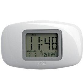 """流線型デザインにドット液晶表示が近未来的! """"LEXON""""GALAXY CLOCK(LR104) 【時計】【置時計】【目覚まし時計】【デジタル時計】【デザイン】【トラベル】【ポータブル】【スヌーズ】【新生活】【一人暮らし】【家具】"""