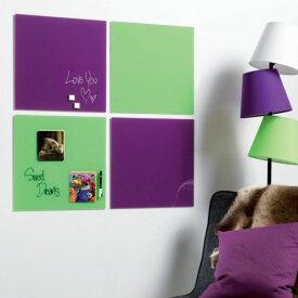 ガラス製のメッセージボード!Magnetic glass board(マグネチックガラスボード)45×45cm【掲示 ホワイトボード】