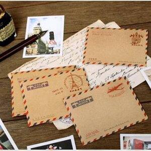 アンティークデザインの小さな封筒! 7321 small envelope(5セット) 【封筒】【メッセージカード】【アンティーク】【クラフト紙】【手紙】
