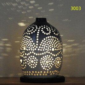 """螢の華""""陶灯りセット3003"""" 陶器のランプシェードと乾電池式LEDライト""""光kiwami""""のセットです。一品物 送料無料"""