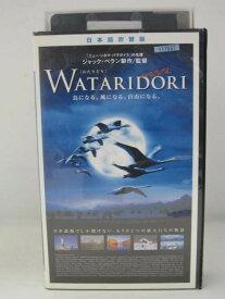 H5 07448 【中古・VHSビデオ】日本語吹替版「WATARIDORI [わたりどり]」 ジャック・ペラン/ジャック・クルーゾ/ミッシェル・デバ