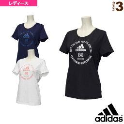W adidas徽章TEE/女士(ELI23)全部運動服飾(女子)愛迪達