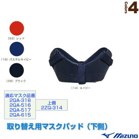 取り替え用マスクパッド/下側(2ZQ315)『野球 グランド用品 ミズノ』