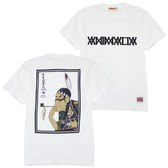 ANIMALIA[アニマリア] 半袖スプリング浮世絵Tシャツ/WHITE