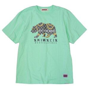ANIMALIA アニマリア : 半袖ゴールドベアTシャツ/MINT