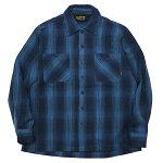 BLUCO[ブルコ]長袖オンブレーチェックヘビーネルシャツ/BLUE