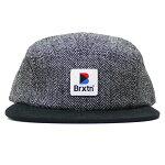 BRIXTON[ブリクストン]ヘリンボーン5パネルキャップ/BLACK×GRAY