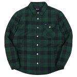BRIXTON[ブリクストン]中綿チェックシャツジャケット/GREEN