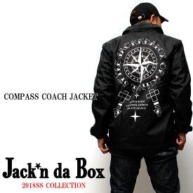【Jack'n da Box original】2018SS NEW MODEL JB COMPASS COACH JACKET ジャッキンダボックス コンパス コーチジャケット ナイロンジャケット 春アウター ライトアウター 薄手 スノボー メンズ お洒落 限定 オリジナル