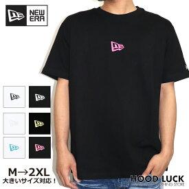ニューエラ Tシャツ NEWERA 半袖 コットン Tシャツ ミニフラッグロゴ レギュラーフィット 半袖Tシャツ メンズシャツ レディースシャツ ミニロゴ mini ligo