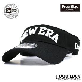 ニューエラ ゴルフ サンバイザー NEW ERA GOLF キャップ 帽子 サンキャップ メンズ レディース ブラック